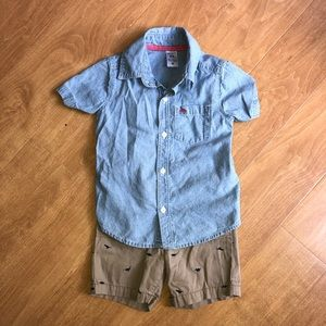 Boy 24 month Dinosaur Casual Outfit